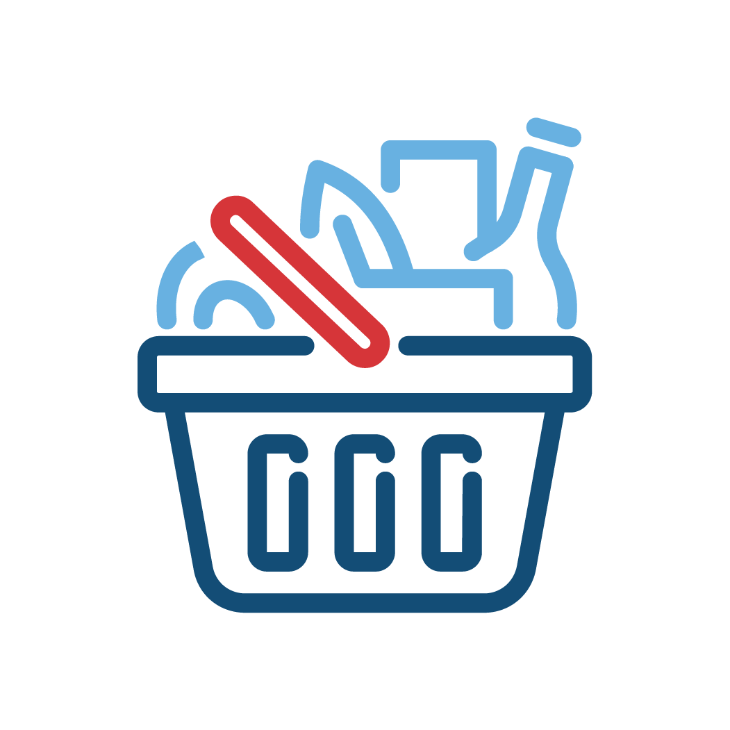 Groceries in Basket Icon